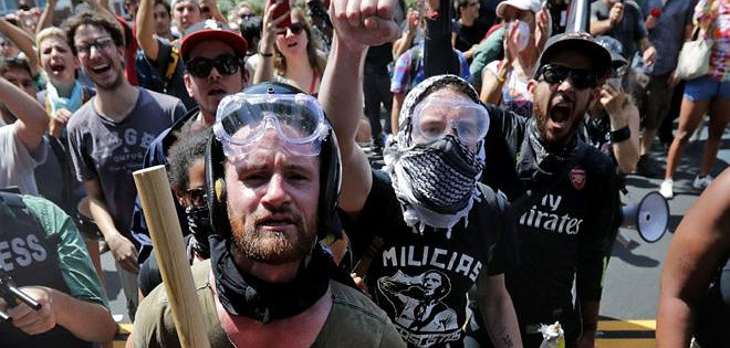 the controversial subject on the charlottesville riot